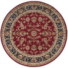tayse rugs sensation red 8 ft round transitional area rug