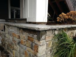natural grey concrete broken rock edge outside kitchen outdoor countertops countertop sealer simulated stone