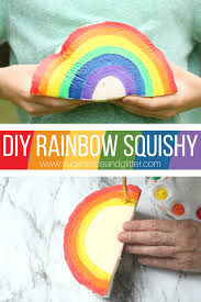 how to make a diy squishy toy with just a few common materials this rainbow