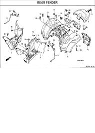 2007 honda 420 wiring schematic wiring diagrams best 2007 honda fourtrax rancher 420 es trx420fe rear fender wiring schematics honda odssey 2007 honda 420 wiring schematic