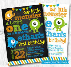 Birthday Invatations Little Monster Birthday Invitations Monster Invitations Monster Birthday Party Little Monster 1st Birthday Digital Invitation 2 Options