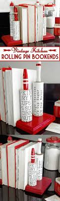 image vintage kitchen craft ideas. Use Rolling Pins To Make Vintage Inspired Bookends For Your Kitchen. Very Easy Project! Image Kitchen Craft Ideas C