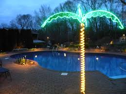 outdoor tree led lighting ideas with palm tree and led string lights full size