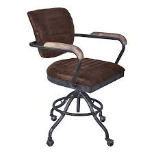 Industrial office chair Leather Brice Modern Office Chair In Industrial Grey Finish And Brown Fabric Walmartcom Walmart Brice Modern Office Chair In Industrial Grey Finish And Brown Fabric