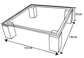 Table basse de salon en verre transparent Arklow - Mobilier Moss