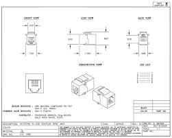 rj12 coupler 6 position black showmecables com click here to the spec sheet