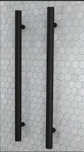 uno round vertical heated towel rail matte black single heated towel bar d77