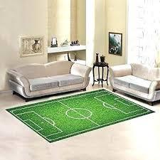 braided area rug soccer rugs natural green grass field cover carpet 7 x 5 feet sport