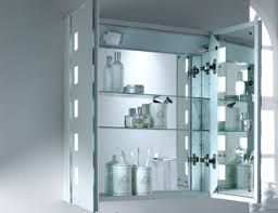 Brilliant Bathroom Cabinets Mirrored Cabinet With Lights