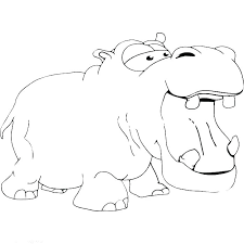 Hippo Coloring Pages Coloring Page Hippopotamus Animals Printable