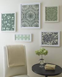 more diy wall art uses fabric or wallpaper maybe scrapbook