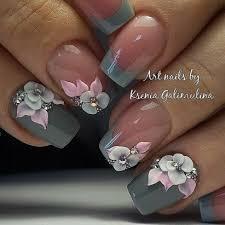 Pin by Mayda Diaz on uñas   Floral nails, Nail designs, Flower nails