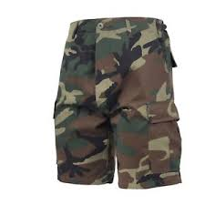 Details About Woodland Camouflage Military Bdu Button Fly Cargo Shorts 65212 Rothco
