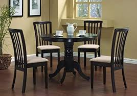 glamorous dining table for 4 at com 5 pc round chairs chair set cappuccino