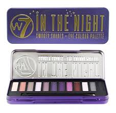 w7 in the night smokey shades eye colour palette tin 12 eye shadows