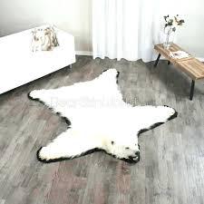 polar bear rug foot faux skin with head