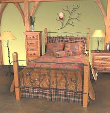 Rustic Beds: Queen Size Complete Rustic Sassafras Bed|Black Forest Decor