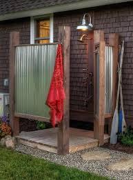 outside shower ideas leech lake outdoor shower tile shower ideas with window