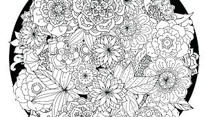 Flower Mandala Coloring Pages For Adults Intricate Mandala Coloring