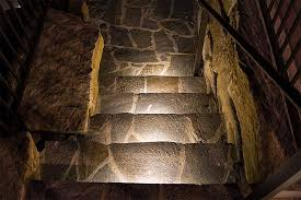 retaining wall lights stairs