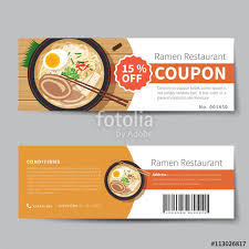 Food Voucher Template Interesting Japanese Food Coupon Discount Template Flat Design Stock Image And