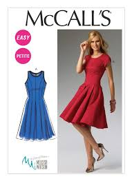 Fit And Flare Dress Pattern Awesome M48 Misses'Miss Petite Fit And Flare Dresses Sewing Pattern