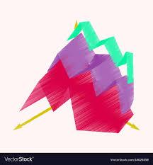 Economic Chart Flat Shading Style Icon Economic Chart