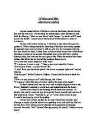 of mice and men lennie analysis essay dissertation hypothesis  essay about analysis of of mice and men by john steinbeck