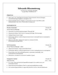 Traditional Resume Template Cool 48 Basic Resume Templates