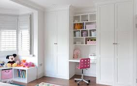 childrens fitted bedroom furniture. Floor To Ceiling Fitted #wardrobes With #desk Area In #white Satin Lacquer. Childrens Bedroom Furniture O