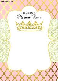 Free Templates For Invitations Printable Disney Princess Birthday Party Invitations Free Printables