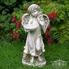 china modern garden carved white marble