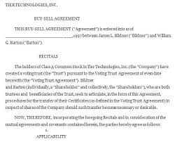 Buyout Agreement Template Buy Sell Agreement Sample Buy Sell ...