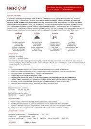 Chef Resume Resume Cv Cover Letter