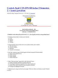 Soal pts/uts semester 1 kelas 5 tema 1 organ gerak hewan dan manusia mupel pkn, bahasa indonesia dan kunci jawaban. Soal Ips Kelas 5 Semester 2 Beserta Kunci Jawaban Guru Galeri