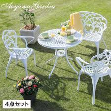 garden furniture garden table set leeds set of 4 round table d igf 03s garden table desk terrace balcony supplies goods yard gardening