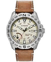 citizen citizen macy s citizen men s eco drive brown leather strap watch 44mm a macy s exclusive style