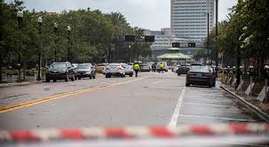 police barricade a street near the jacksonville landing in jacksonville fla sunday aug 26 2018 florida authorities are reporting multiple fatalities