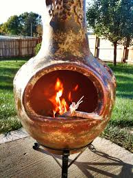 what is a clay chiminea