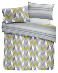 details about geometric zig zag barcode stripe green blue grey duvet cover 3 sizes