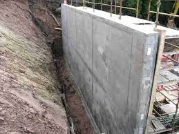 build concrete retaining wall diy stamped