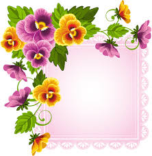 Flower Border Designs For Paper Beautiful Flower With Pink Paper Background Vector Free Vector In