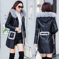 faux sheepskin coat 2018 fashion new autumn winter leather jacket women thick warm long trench coat hooded las parka leather suede leather