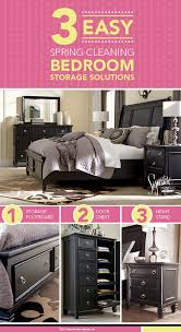 3 Easy Spring Cleaning Bedroom Storage Solutions   Greensburg Queen Sleigh  Bedroom   Furniture And Accessories