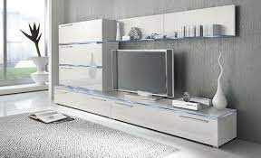 liren 1 white media wall unit