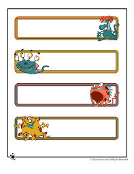 printable name cards and bulletin board decorations printable name plates cute monsters classroom jr