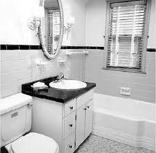 Simple Black And White Bathroom Design Home And Design Interior