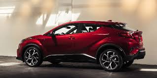 2018 toyota hrc.  2018 Red 2018 Toyota CHR Side Profile Exterior In A Garage Inside Toyota Hrc