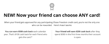 With a hsbc credit card referral, you can get a s$250 cash rebate for each successful credit card referral (up to a total of. Chase Referral Bonus Freedom Freedom Unlimited Are Now Interchangeable 100 Bonus For Referrer Doctor Of Credit