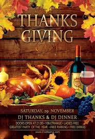 thanksgiving party flyer thanksgiving day party flyer by oloreon graphicriver